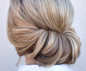 hair, hairstyle, and blond image