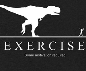 dinosaur and exercise image