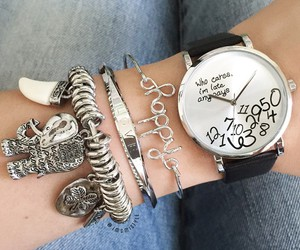 bracelets, who cares, and clock image