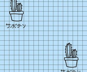 cactus, aesthetic, and blue image