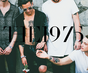 background, the 1975, and the image