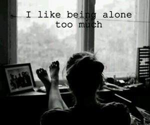 alone, black and white, and quotes image