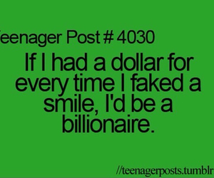 teenager post, smile, and dollar image