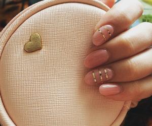 nails, pink nails, and nail art image