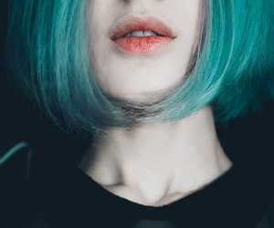 blue hair, girl, and turquoise hair image