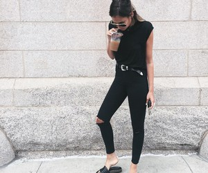 black, clothes, and ootd image