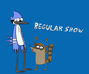 blue, cartoon network, and rigby image