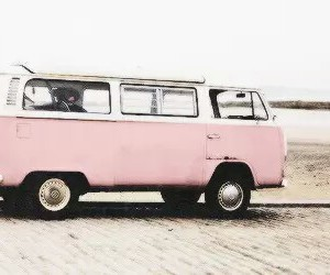 pink, vintage, and beach image