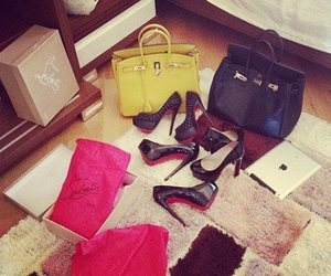 heels, fashion, and bag image