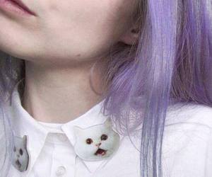 hair, cat, and grunge image