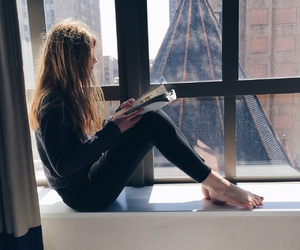 book, girl, and indie image