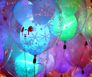 balloons, disney, and mickey mouse image