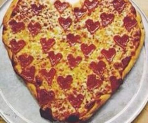 pizza, food, and love image