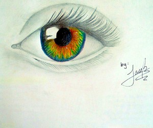 colours, drawing, and eye image