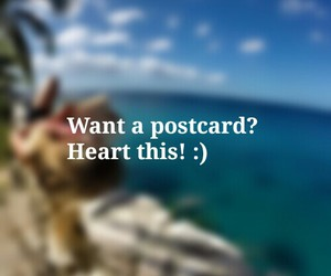 heart, meeting new people, and postcard image
