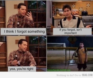 funny, two and a half men, and lol image