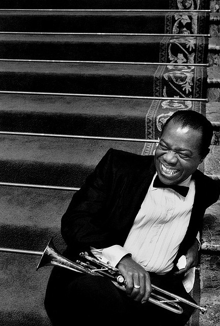 louis armstrong and vintage image