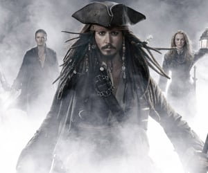 pirates of the caribbean, johnny depp, and keira knightley image