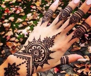 beautiful, henna tattoo, and henna image