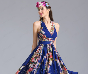 fashion, floral dress, and summer dress image