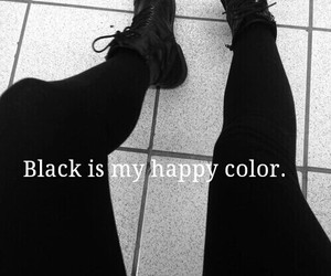 black, color, and happy image