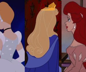 cinderella, ariel, and disney image