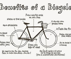bicycle, bike, and benefit image
