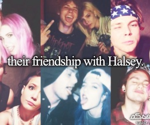 halsey, michael clifford, and ashton irwin image