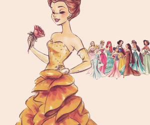 disney, princess, and belle image