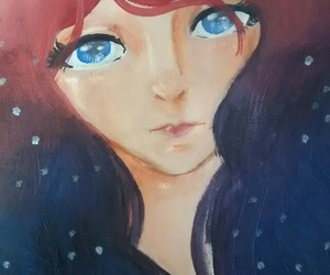 colores, girl, and painting image