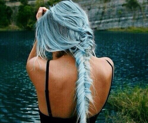 blue hair, girls, and long hair image