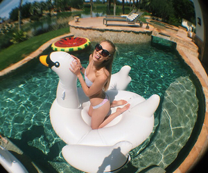 goals, pool, and summer image