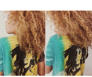 bob marley, curly hair, and tia valentine image