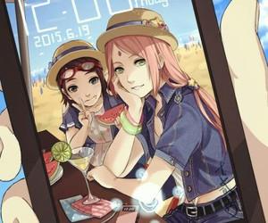 sakura, sarada, and naruto image