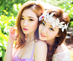 model, chae eun, and sung kyung image