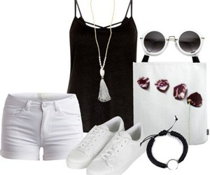 black and white, summer outfits, and summer2015 image