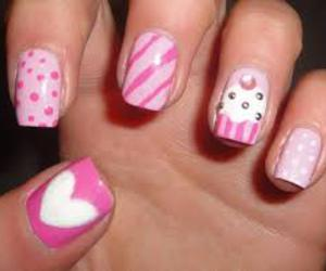 pink, cupcake, and nails image