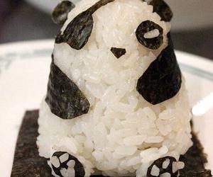 food, panda, and rice image