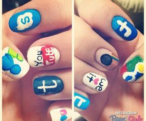 nails, twitter, and instagram image
