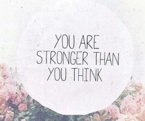 strong, quotes, and flowers image