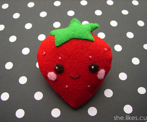 felt, cute, and strawberry image