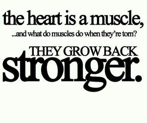 heart, strong, and quotes image