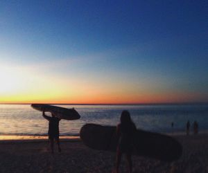 beach, board, and paradise image