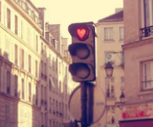 love, heart, and traffic lights image