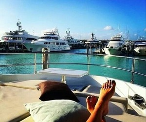 summer, luxury, and yacht image