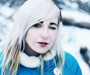blonde, hair, and winter image