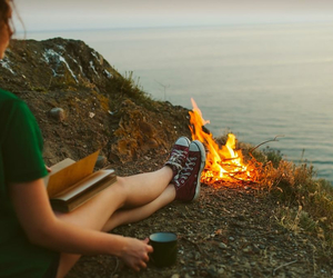book and fire image