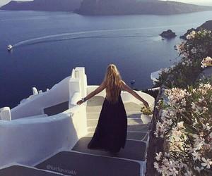 girl, travel, and Greece image