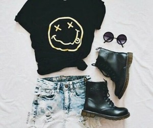 nirvana, outfit, and style image