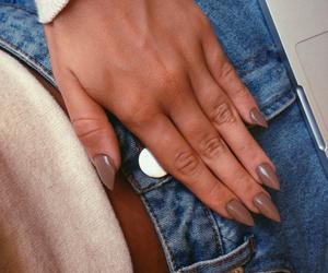 denim, nail polish, and outfit image
